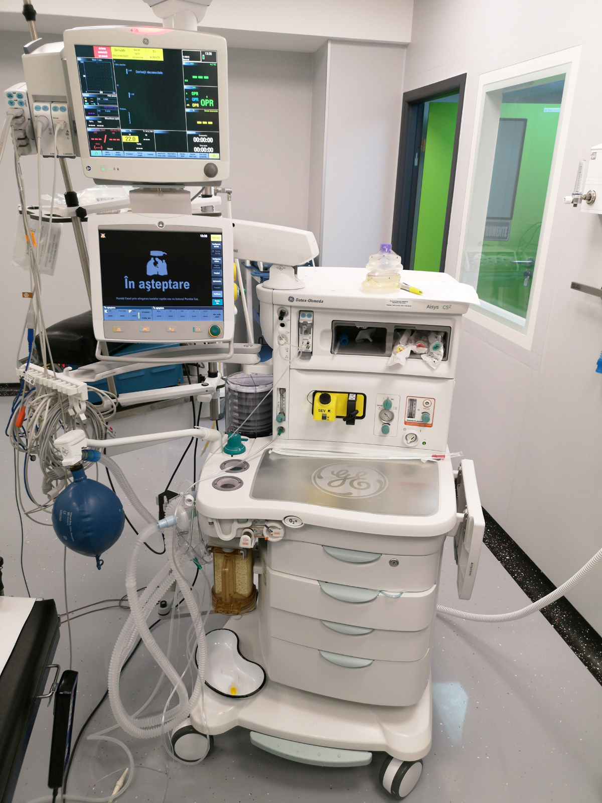 Aparat de anestezie de inalta performanta AYSIS +Monitor complex de functii vitale GE