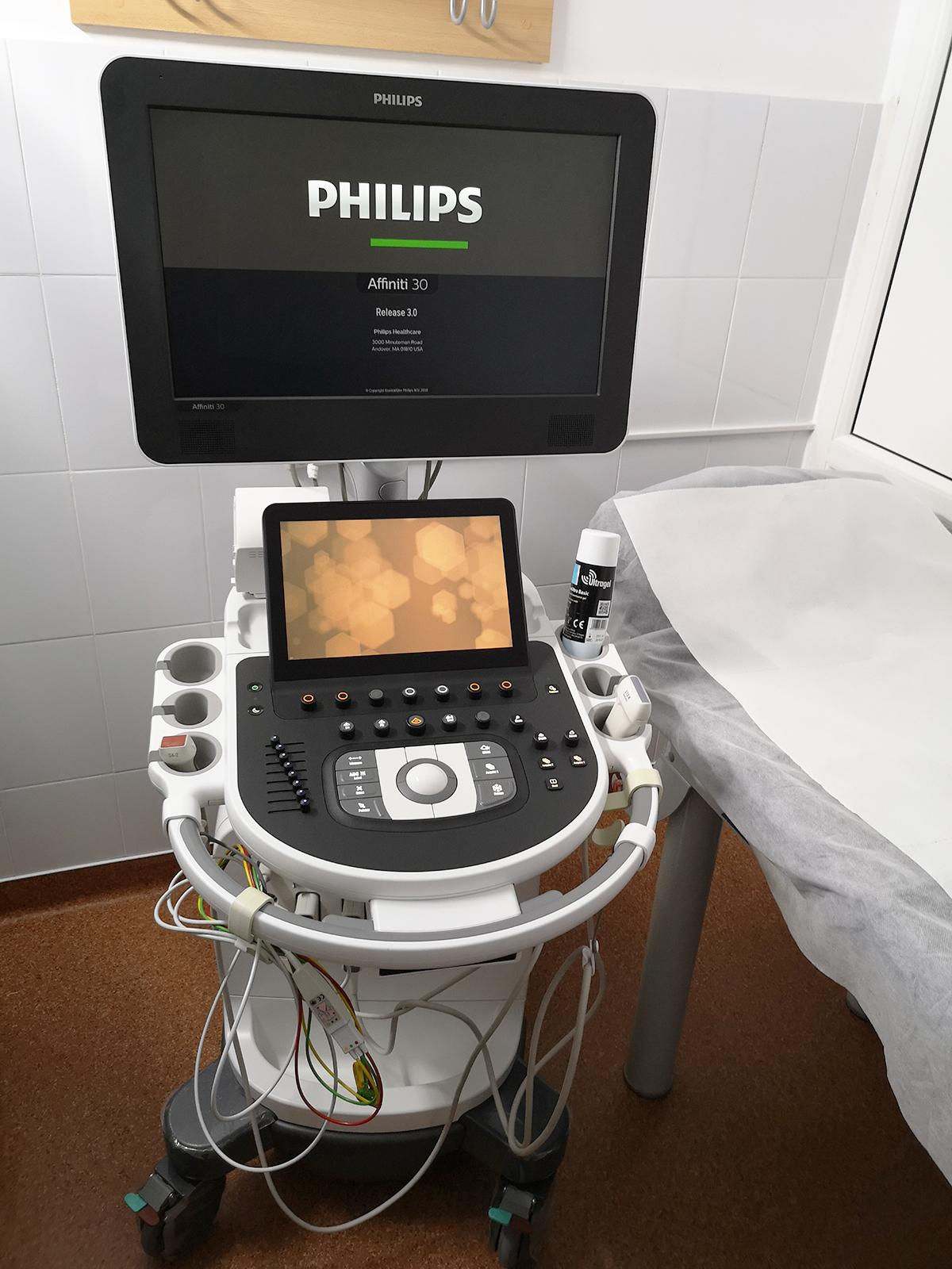 Ecograf aplicatii cardio cu 2 sonde Philips Affiniti 30