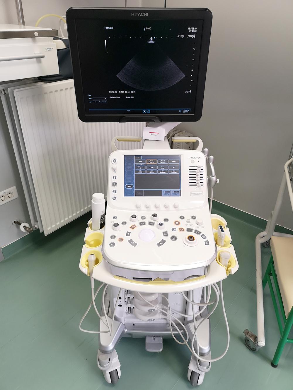 Ecograf de inalta performanta pentru nou nascuti ARIETTA V70 HITACHI